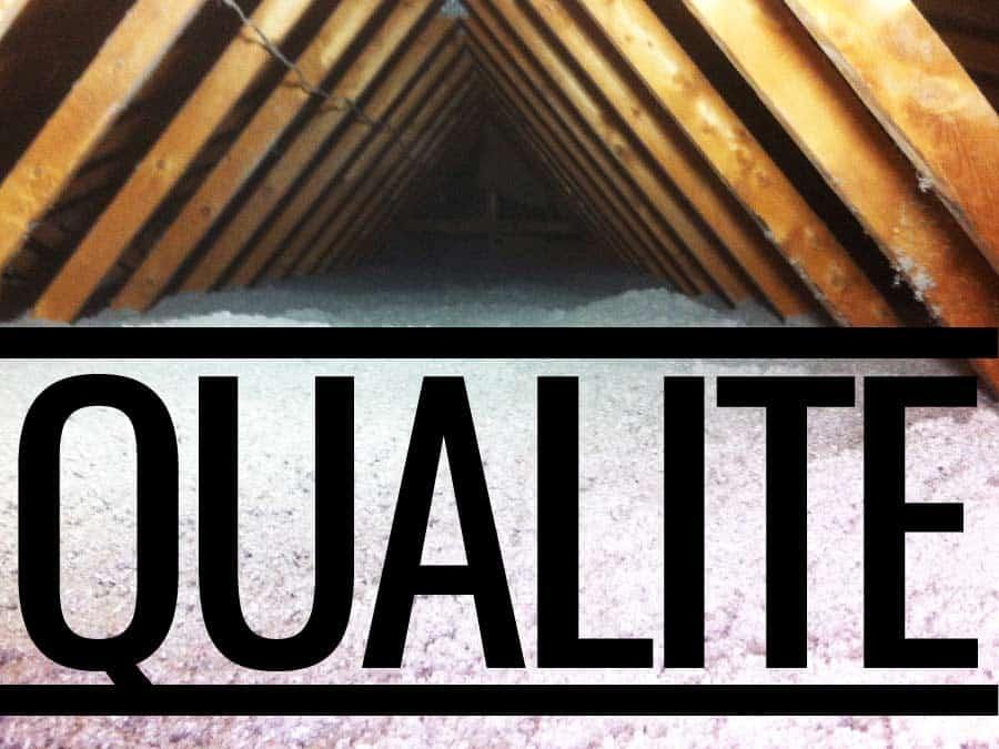 Travail de qualité en isolation par une équipe d'experts d'expérience et qualifiée