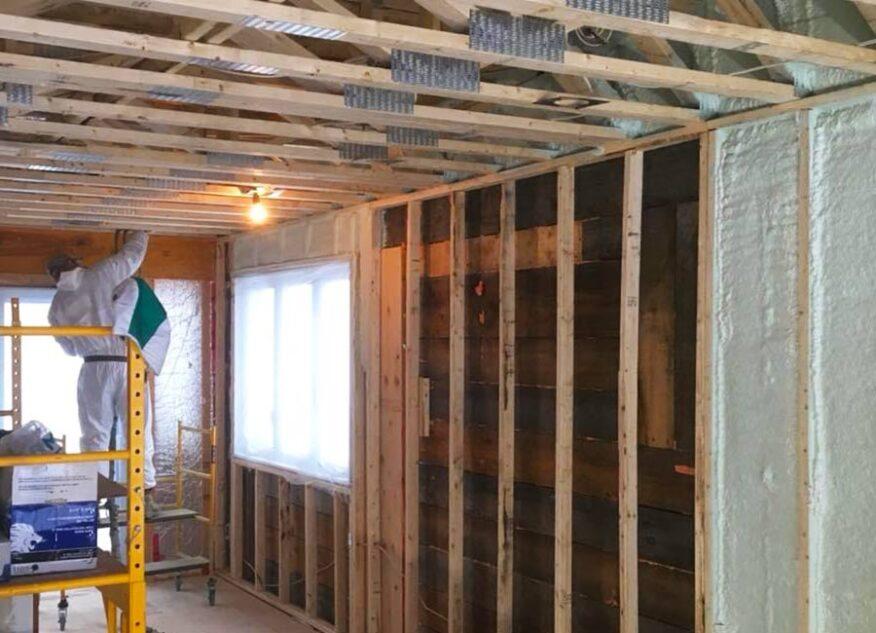 Isolation d'une maison en rénovation